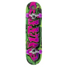 "Skate Enuff Graffiti II 7.25""x29.5"" Green/Purple"