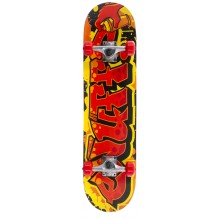 "Skate Enuff Graffiti II 7.25""x29.5"" Yellow/Red"