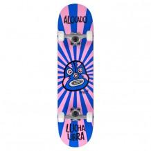 "Skate Enuff Lucha 7.25""x29.5"" Rose/Bleu"