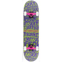 "Skate Enuff Scramble 7.75""x31.5"" Green/Purple"