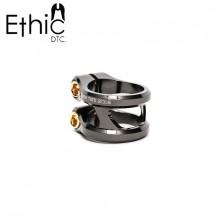 Double collier de serrage Ethic Sylphe Noir Brillant