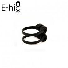 Double collier de serrage Ethic Steel 31.8 noir
