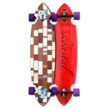 Longboard Koastal Deluxe Drop 9'' Wood/White/Purple