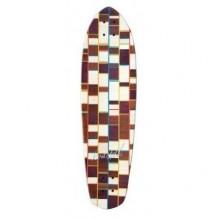 Deck Longboard Koastal Meat Loaf Deluxe 9'' Brown/White