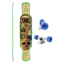 Longboard Moonshine MFG Infuser Natural 9'' Multi/Wood/Blue