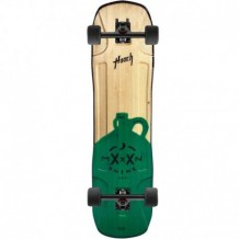 "Longboard Moonshine Hooch 9.75"" Black/Wood/Green"