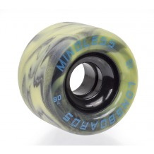 Roues Mindless Viper 65mm 80A Swirl Jaune