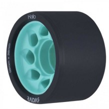 Roues Radar Halo 59mm/88a noires/teal X4