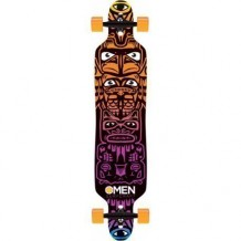 Longboard Omen Totem 9.5'' Multi/Orange