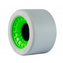 Roues Radar Presto Highliter 59mm/99a grises/vertes X4 au meilleur prix !