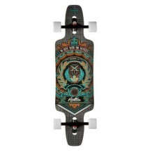 "Longboard Restless Splinter Crest ""No Rest"" 9.5''x35"" Multi/Grey/White"