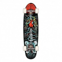 "Longboard Riviera Anatomy Of A Skateboard 8"" Black/Red/White"