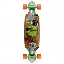 "Longboard Riviera Evolution Drop Through 8.6"" Multi/Orange"