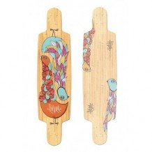 "Deck longboard Riviera Gemini 9.5"" Red/Wood"