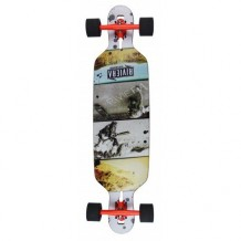"Longboard Riviera Venture Drop Through 9.4"" Multi/Black"