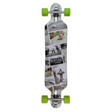 "Longboard Riviera Ride Free Drop Through 8.6"" Grey/Green"