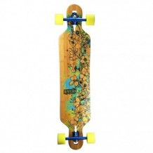 "Longboard Riviera Water Blossoms 8.6"" Wood/Blue/Yellow"