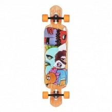 "Longboard Riviera Word to the WISE 9.5"" Multi/Wood/Orange"