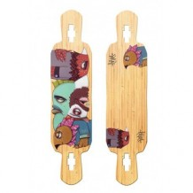 "Deck longboard Riviera Word To The Wise 9.5"" Purple/Wood"