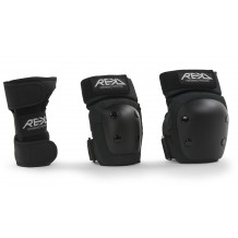 Pack de Protections REKD Heavy Duty Junior Genoux/Coudes/Poignets Black