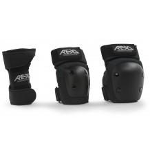 Pack de Protections REKD Heavy Duty Junior Genoux/Coudes/Poignets Black