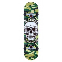 Skateboard Complete Rocket Combat Skull