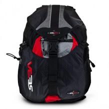Sac SEBA Backpack Small Full Black/Red