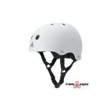 Casque Triple 8 brainsaver double certification Blanc