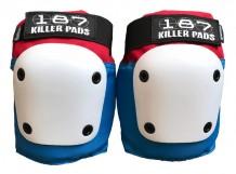 Genouilleres 187 Killer Pads Fly Bleu/Blanc/Rouge