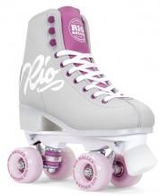 Rio Roller Script Quad Skates Gris