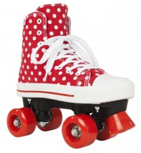 Roller Quad Rookie Canvas High polka dots